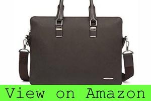 BOSTANTEN Leather Briefcase Shoulder Cross-body Laptop