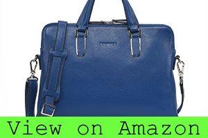 Banuce Slim Leather Briefcase for Women Messenger Bag