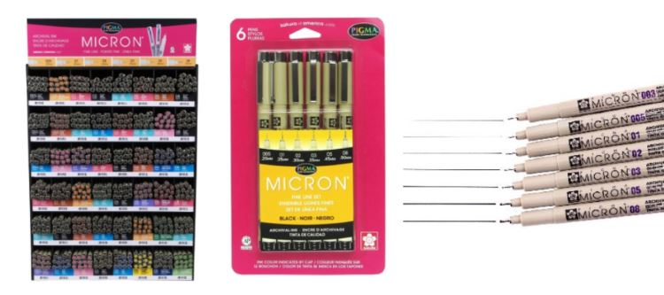 Micron Sakura Pigma - Best Black Pen for Bullet Journal