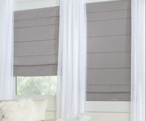 BrylaneHome Cordless Large-Fold Woven Roman Shade Review
