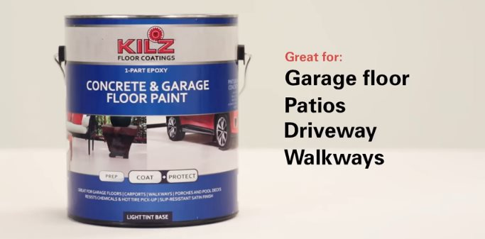 KILZ One Part Epoxy Acrylic Concrete Paint U2014 Best Concrete Paint For  Outdoors