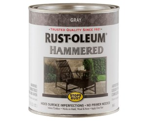 Rust-Oleum Hammered Metal Finish Review